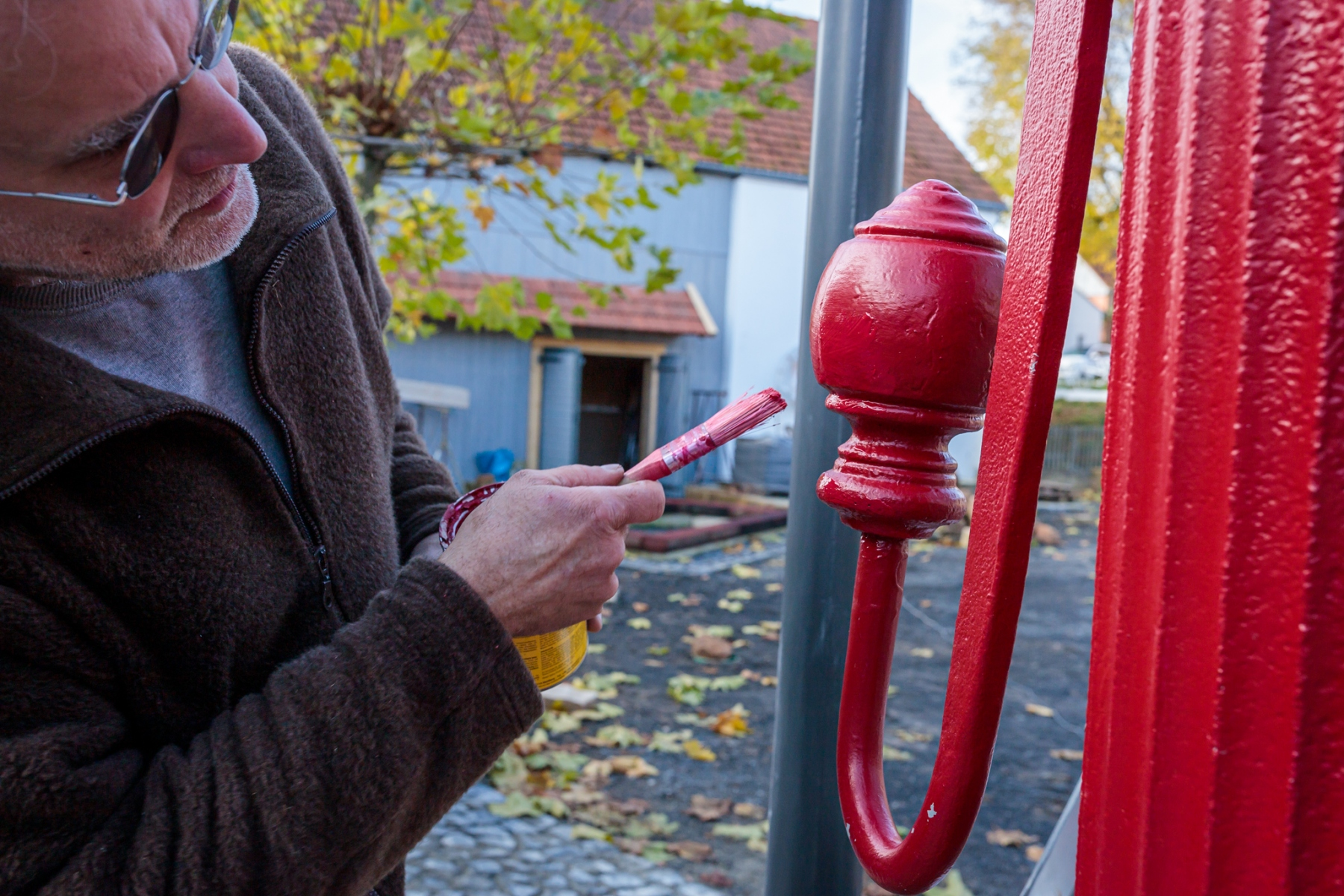Pumpeninstallation am Mehrgenerationenplatz