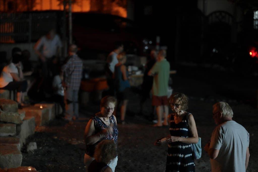 Laue Sommernacht nach der Filmpräsentation