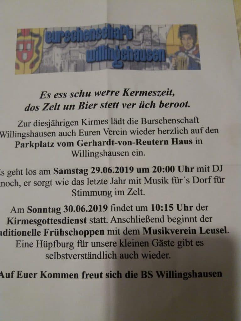 Einladung Kirmes